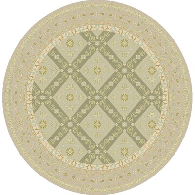 Bargamin Classic Beige/Moss Area Rug Rug size: Square 8