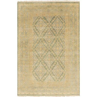 Bargamin Classic Beige/Moss Area Rug Rug size: Rectangle 9 x 13