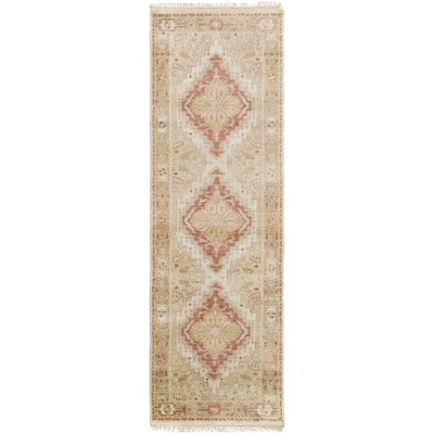 Bargamin Classic Beige/Ivory Area Rug Rug size: Runner 26 x 8