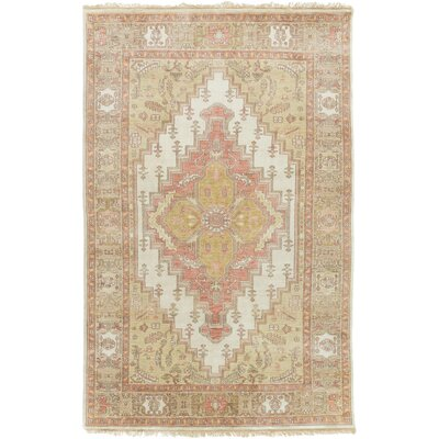 Burlin Classic Beige/Ivory Area Rug Rug size: Rectangle 56 x 86