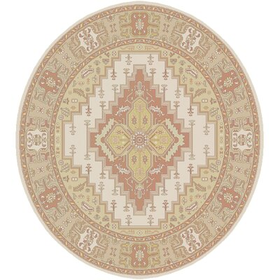 Burlin Classic Beige/Ivory Area Rug Rug size: Square 8