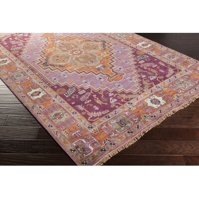 Burlin Classic Rust Area Rug Rug size: Rectangle 9 x 13