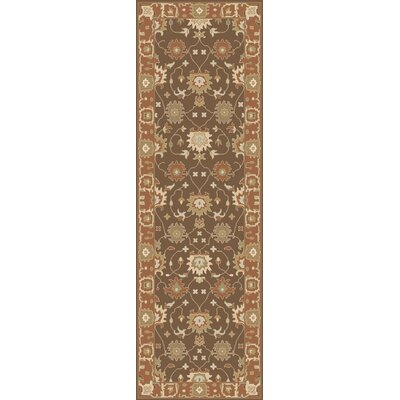 Barkbridge Coral/Ivory Oriental Rug Rug Size: Rectangle 8 x 10