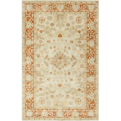 Barkbridge Beige/Tangerine Oriental Rug Rug Size: Rectangle 8 x 10