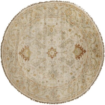 Bargamin Oriental Beige Area Rug Rug Size: Round 8