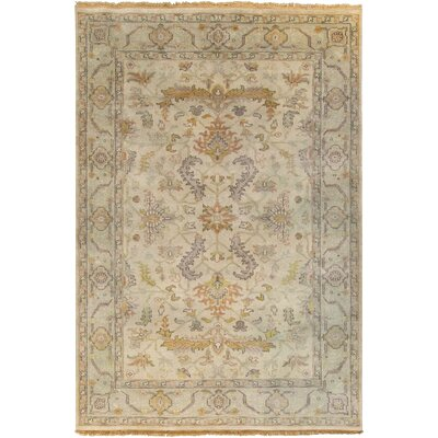 Bargamin Oriental Beige Area Rug Rug Size: Rectangle 8 x 11