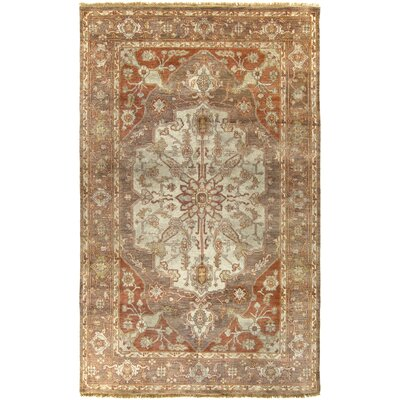 Burlin Oriental Beige/Taupe Area Rug Rug Size: Rectangle 56 x 86