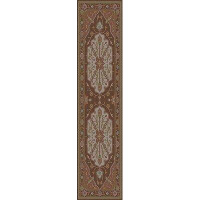 Burlin Oriental Beige/Taupe Area Rug Rug Size: Runner 26 x 8