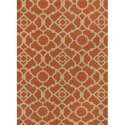 Latimer Spice Athena Rust/Beige Area Rug Rug Size: 8 x 10