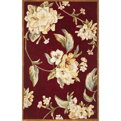 Lovejoy Ruby Floral Elegance Rug Rug Size: Rectangle 53 x 83