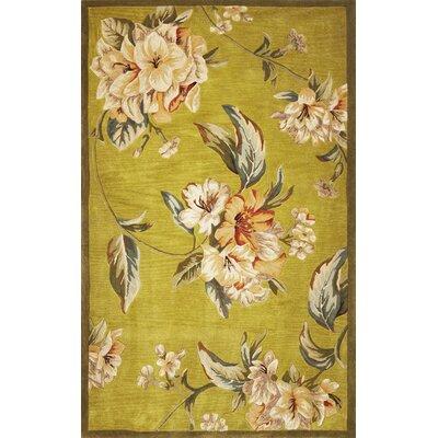 Lovejoy Pistachio Floral Elegance Area Rug Rug Size: 86 x 116