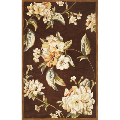 Lovejoy Mocha Floral Elegance Area Rug Rug Size: Rectangle 86 x 116
