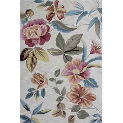 Lyman Sand Floral Area Rug Rug Size: Rectangle 33 x 53
