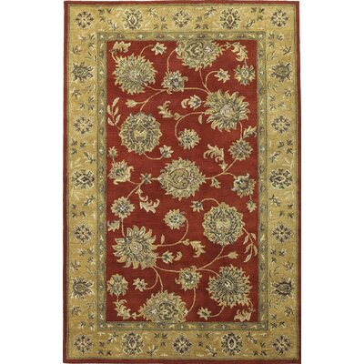 Storrs Sienna Red/Gold Allover Kashan Rug Rug Size: Rectangle 33 x 53