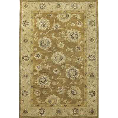 Storrs Coffee/Beige Allover Kashan Rug Rug Size: Rectangle 33 x 53
