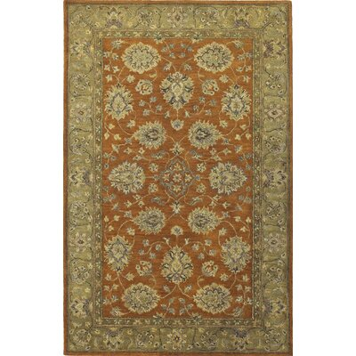 Storrs Rust/Sage Mahal Rug Rug Size: Rectangle 5 x 8