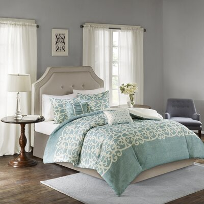 Newburg 6 Piece Duvet Set Size: Full/Queen, Color: Gray