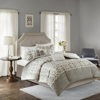 Newburg 6 Piece Duvet Set Size: California King, Color: Gray