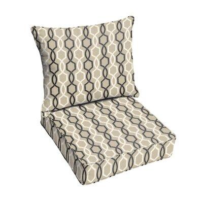 Bank 2 Piece Outdoor Sunbrella Dining Chair Cushion Set