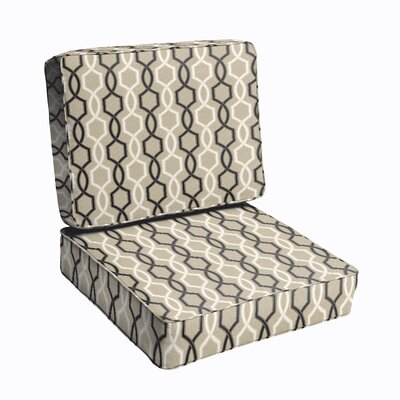 Bank 2 Piece Outdoor Dining Chair Cushion Set