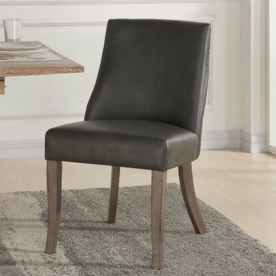 Williston Side Chair Upholstery Type: Gray Faux Leather