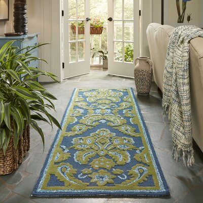 Bellville Forest/Sky Blue Indoor/Outdoor Area Rug Rug Size: 4 x 6