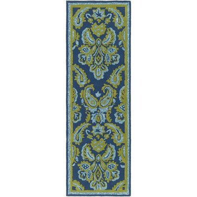 Bellville Forest/Sky Blue Indoor/Outdoor Area Rug Rug Size: Runner 26 x 8
