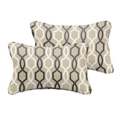 Bank Beige Black Indoor/ Outdoor Lumbar Pillow