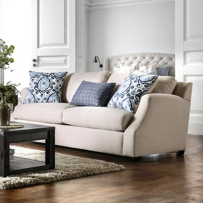 Donaldson Contemporary Sofa Upholstery: Beige / Blue