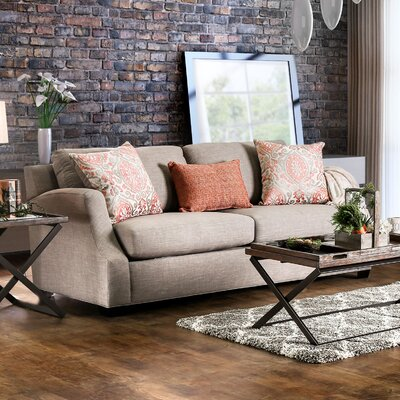 Donaldson Contemporary Sofa Upholstery: Brown / Orange