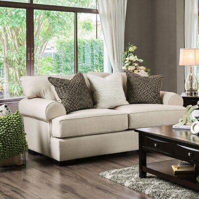Douglasland Loveseat Upholstery: Beige / Dark Green