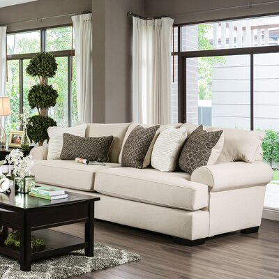 Douglasland Transitional Sofa Upholstery: Beige / Dark Green