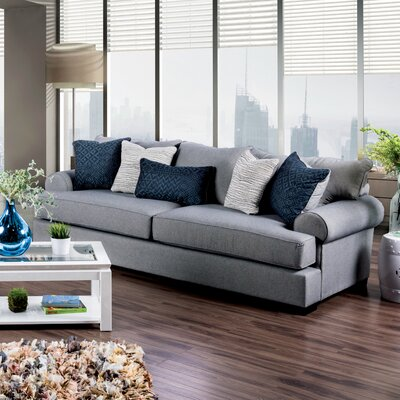 Douglasland Transitional Sofa Upholstery: Gray / Blue