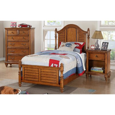 Stroupe Panel Bed Size: Full, Color: Cherry