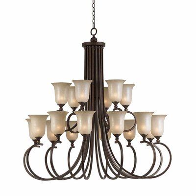 Edgewater 18-Light Shaded Chandelier