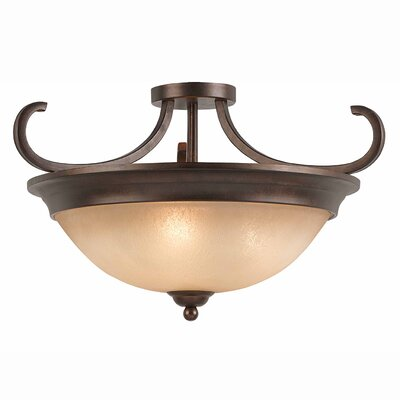 Edgewater 3-Light Semi Flush Mount