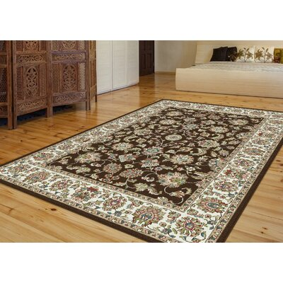 Millvale Brown/Chocolate Area Rug Rug Size: 53 x 73