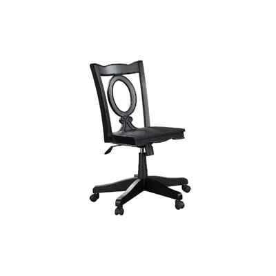 Stroupe Keyhole Mid-Back Bankers Chair Frame Finish: Ebony