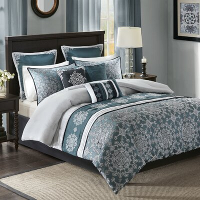 Parrish 9 Piece Comforter Set Size: King