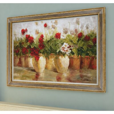 Potted Floral Framed Painting Print