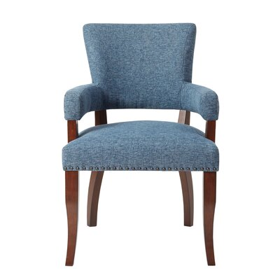 Gilberton Arm Chair Upholstery: Blue