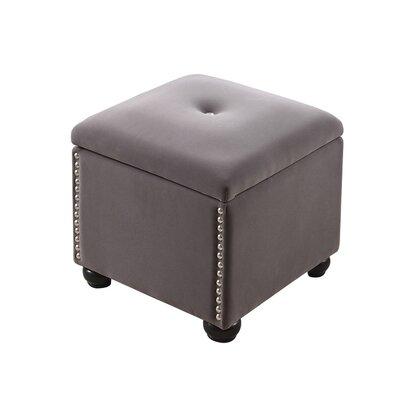 Aubina Storage Ottoman Upholstery: Dove