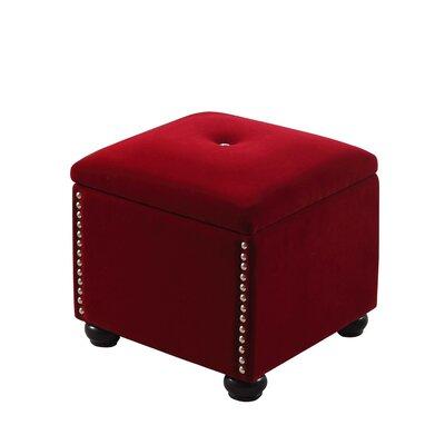 Philadelphia Storage Ottoman Upholstery: Red