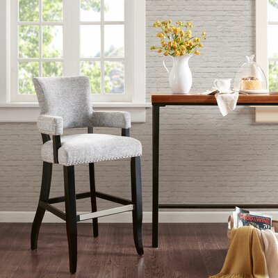Gilberton Bar Stool Upholstery: Gray