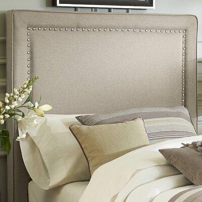Dansville Upholstered Panel Headboard Size: Full, Upholstery: Beige