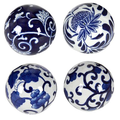 Blue and White Decorative Ceramic Ball
