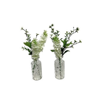 2 Piece Hyacinth Bloom Floral Arrangements in Pot