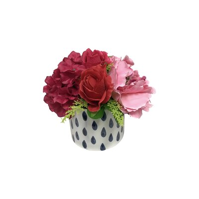 Romantic Rose and Peony Floral Arrangement