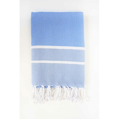 Sumner Stripe Bath Towel Color: Blue/White
