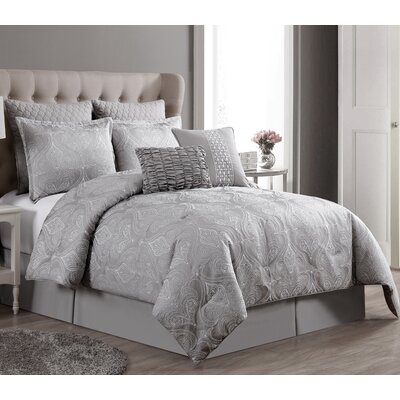 Marquardt 8 Piece Comforter Set Size: Queen